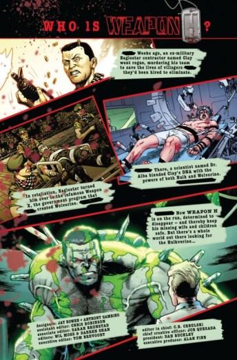 Páginas interiores de 'Weapon H' #1