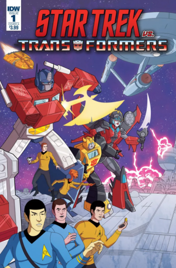 Portada star trek vs transformers
