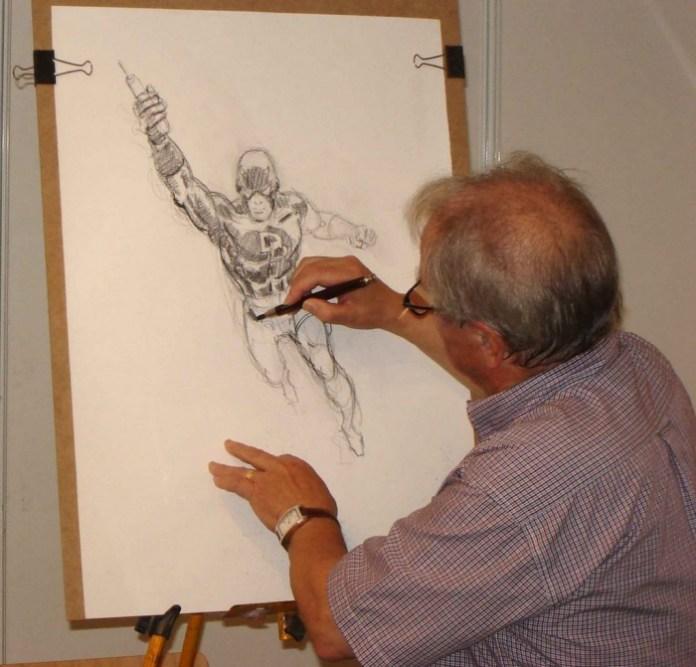 Rafael López Espí dibujando