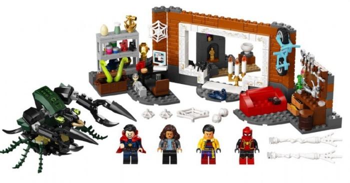 Spider Man No Way Home LEGO traje rojo negro y dorado 02