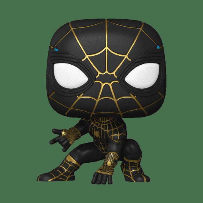 Spider Man No Way Home traje negro y dorado 03