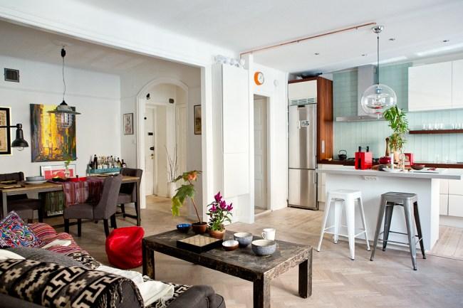 small swedish scandinavian bohemian apartment 8