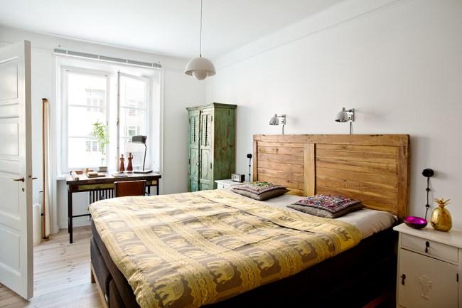 small swedish scandinavian bohemian apartment 9