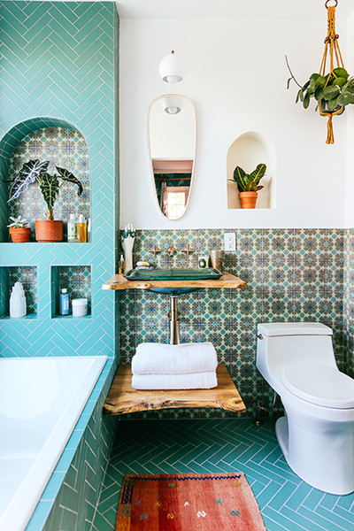 transform your bathroom with boho tiles 5