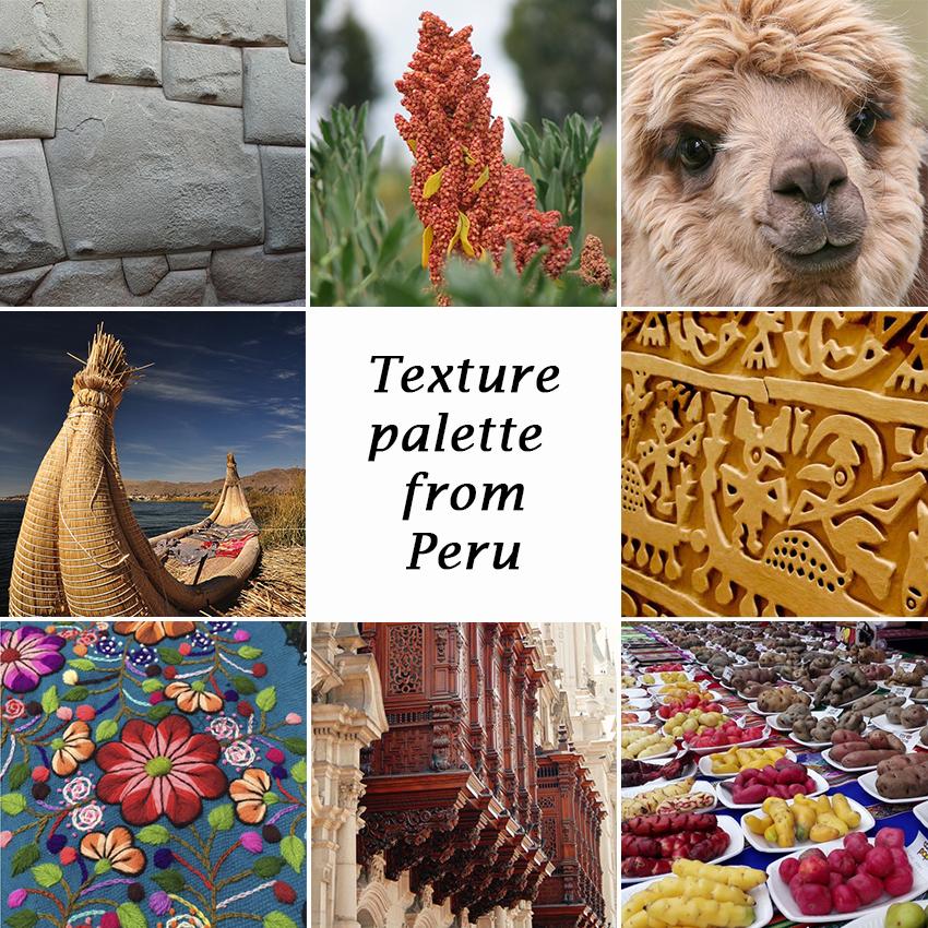 texture palette peru