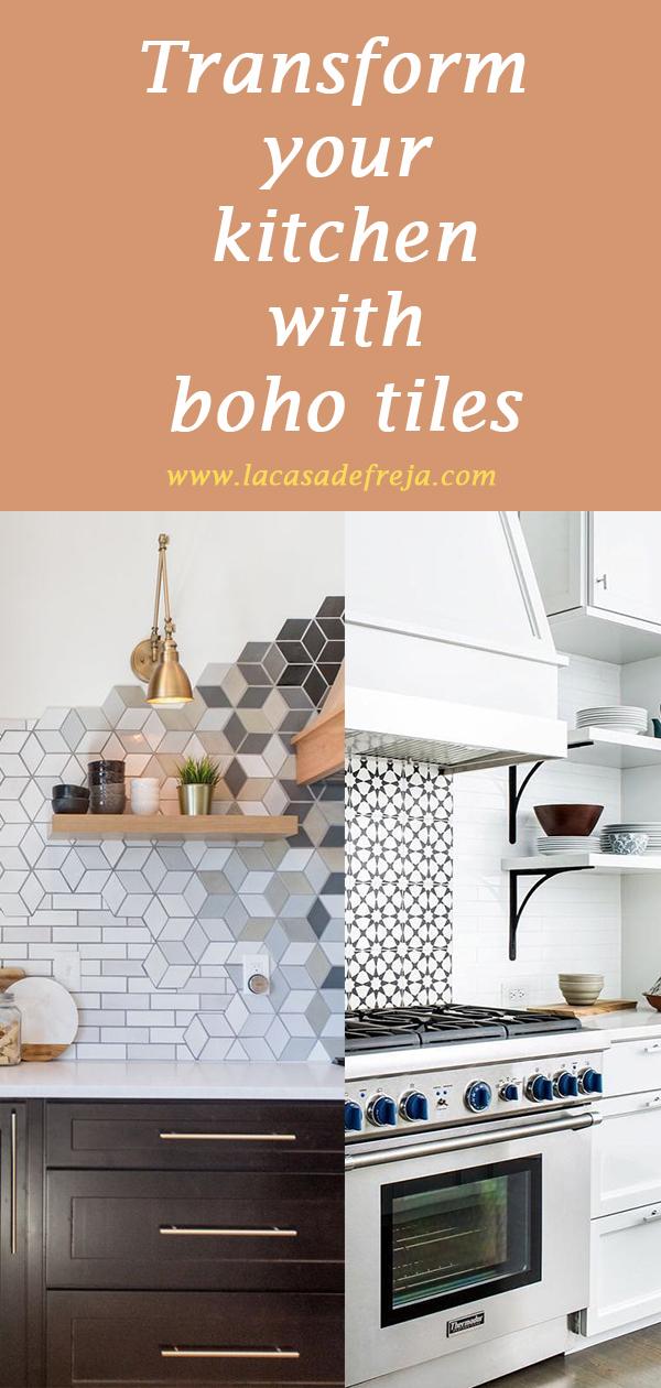 transform kitchen boho tiles