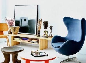The Egg chair as the protagonist of these interiors 02