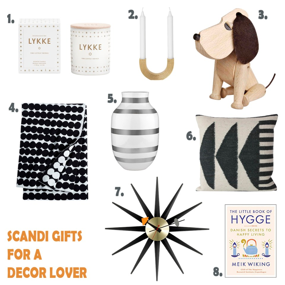 scandi gifts for a decor lover