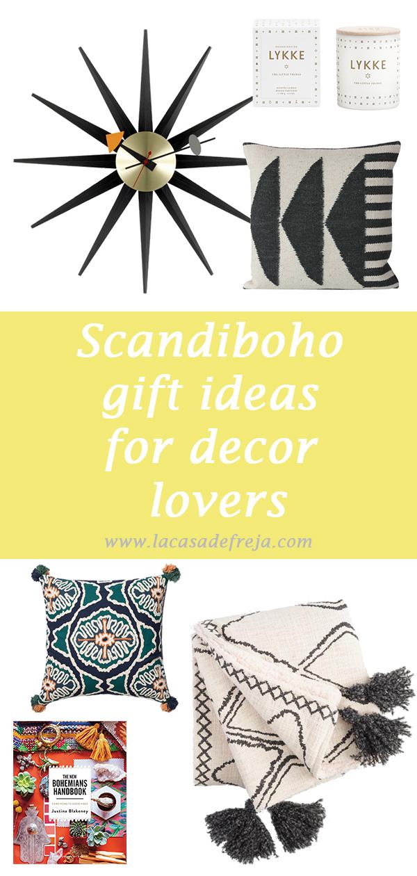 scandi boho gift ideas for decor lovers