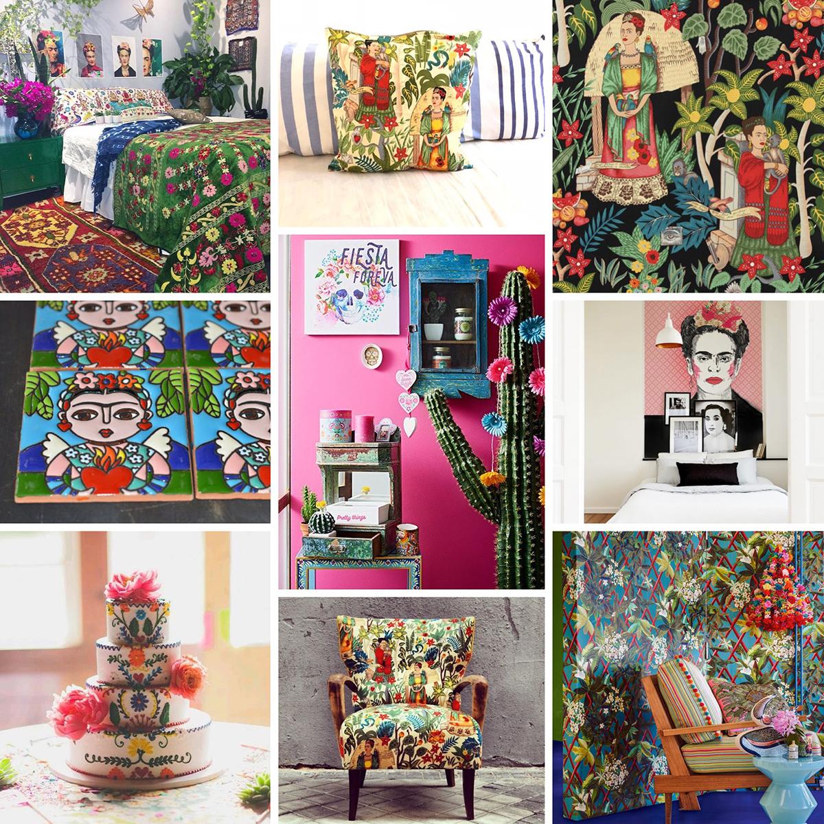 Frida Kahlo Inspiration board and a collage idea 00