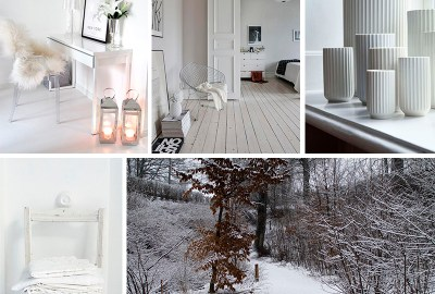Winter inspiration board Home decoration and design