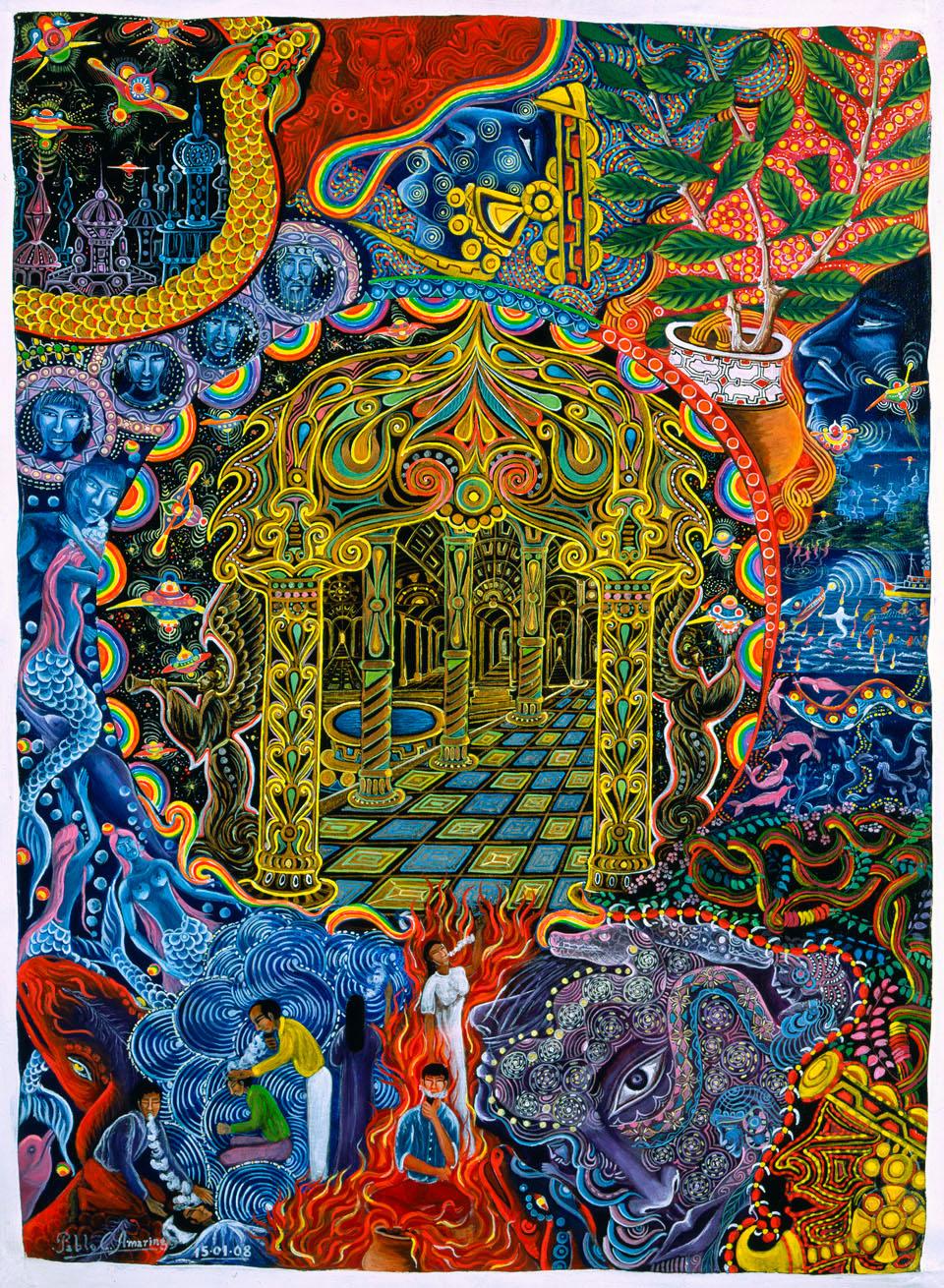 Pablo Amaringo pinturas y visiones de la selva amazónica 02