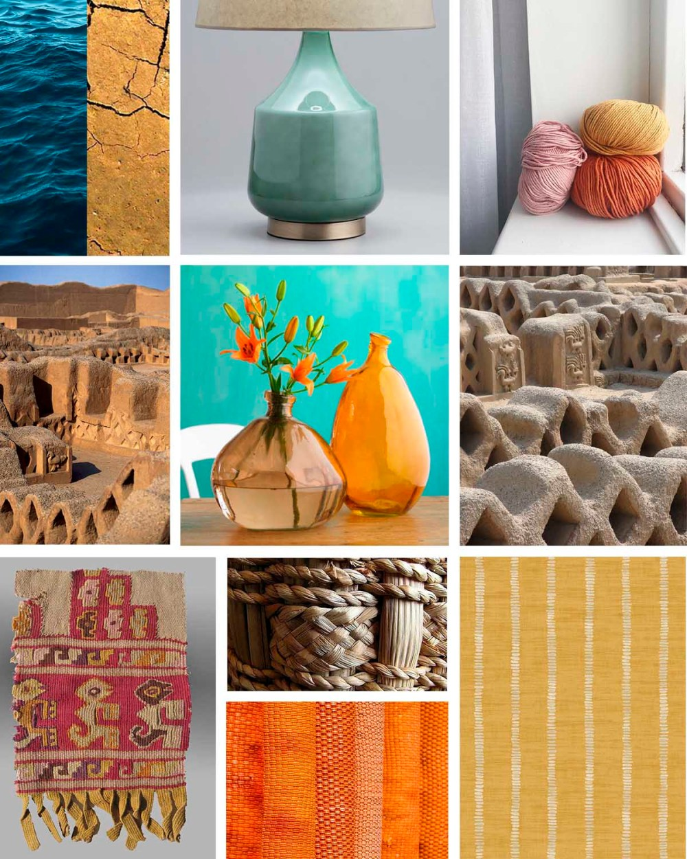 Moodboard Chan Chan the largest mud-brick city in the world