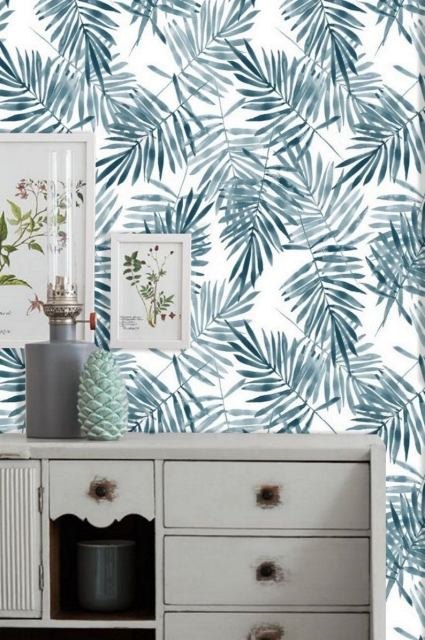 Latest trends in wallpaper in 2019 risky combinations 08