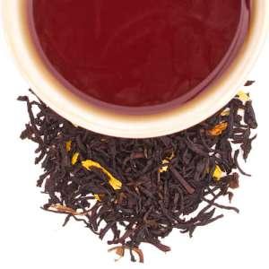 té negro con damasco y girasol