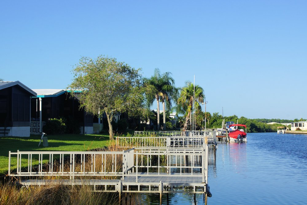 Boat Dock at La Casa Mobile Home Park