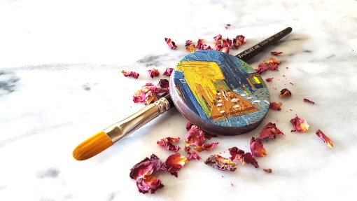 Chocolate art interpretation of Van Gogh