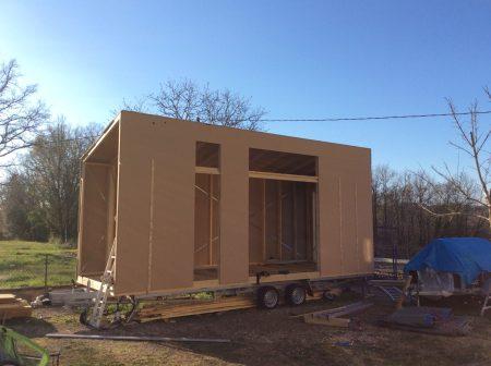 Tinyhouse en construction