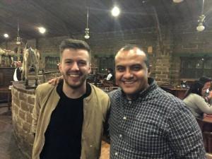 Evan Craft y el Pastor Alex López