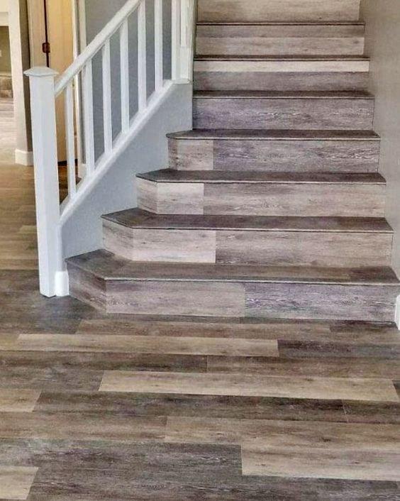 Coretec Vinyl Plank Stair Treads – Hardwood Vinyl Plank | Carpet Tiles For Steps