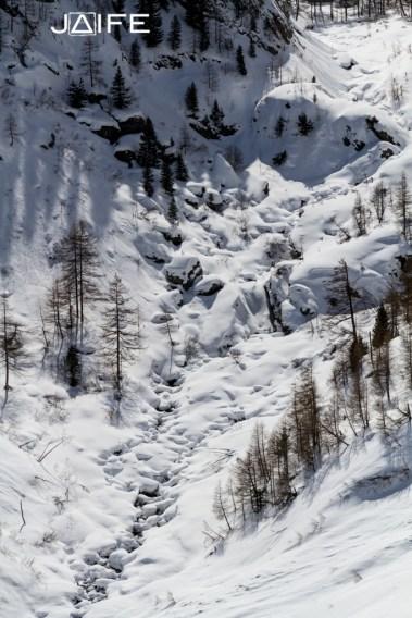 Torrent de neige - Queyras 2013