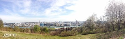 La vue depuis le ravito du parc de St Cloud