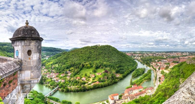Chaudanne depuis la citadelle de Besançon