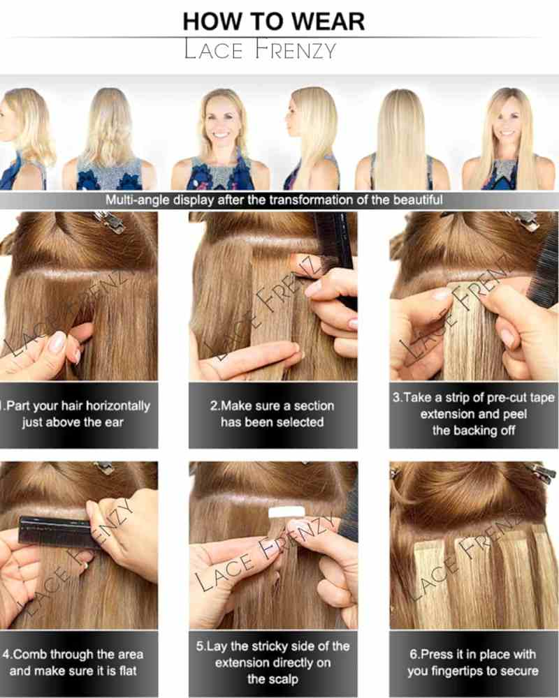 How To Install Tape In Hair Extensions Makeupsite