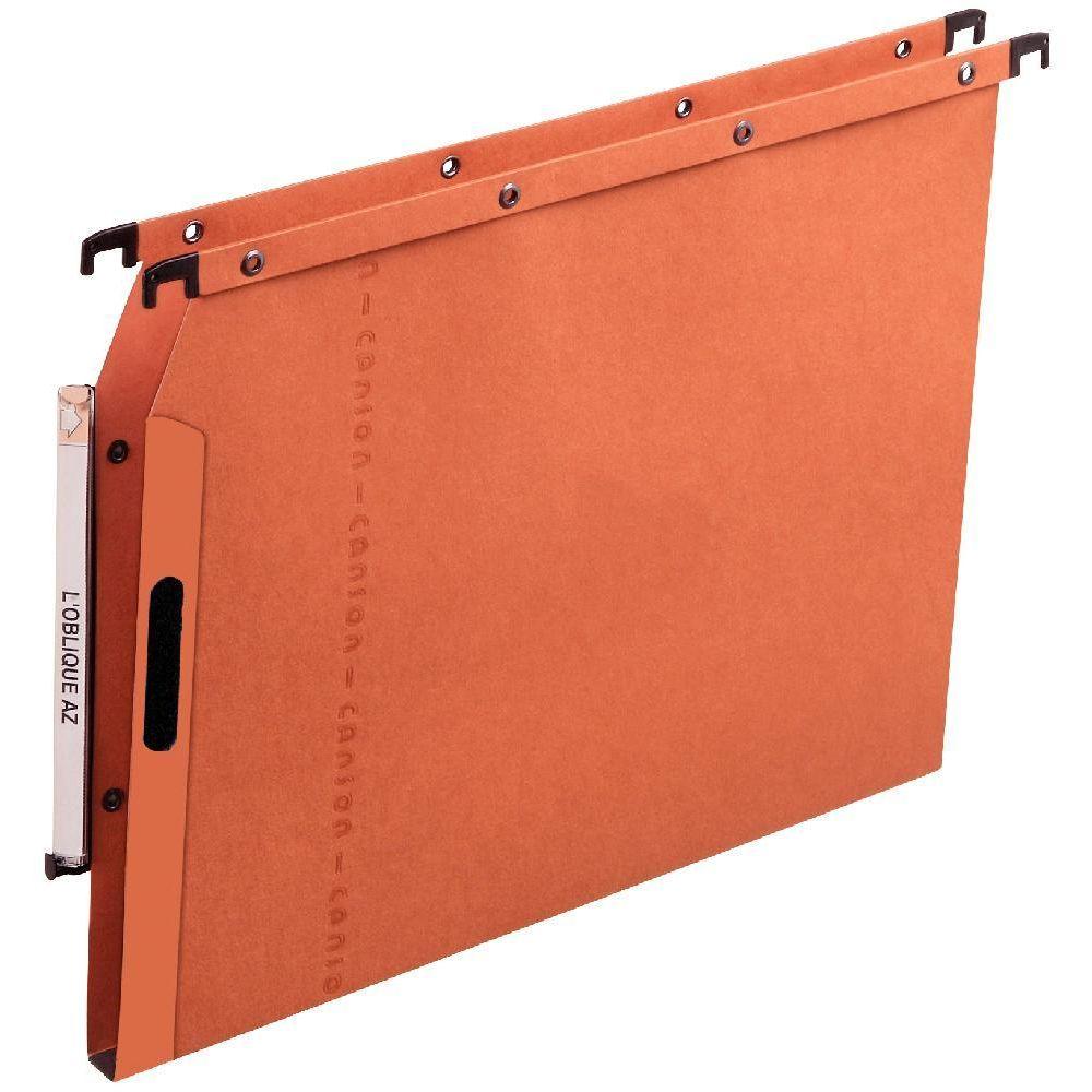dossier suspendu l oblique azl armoire dos 15 orange paquet de 25