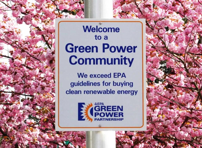 Green Power Community Sign