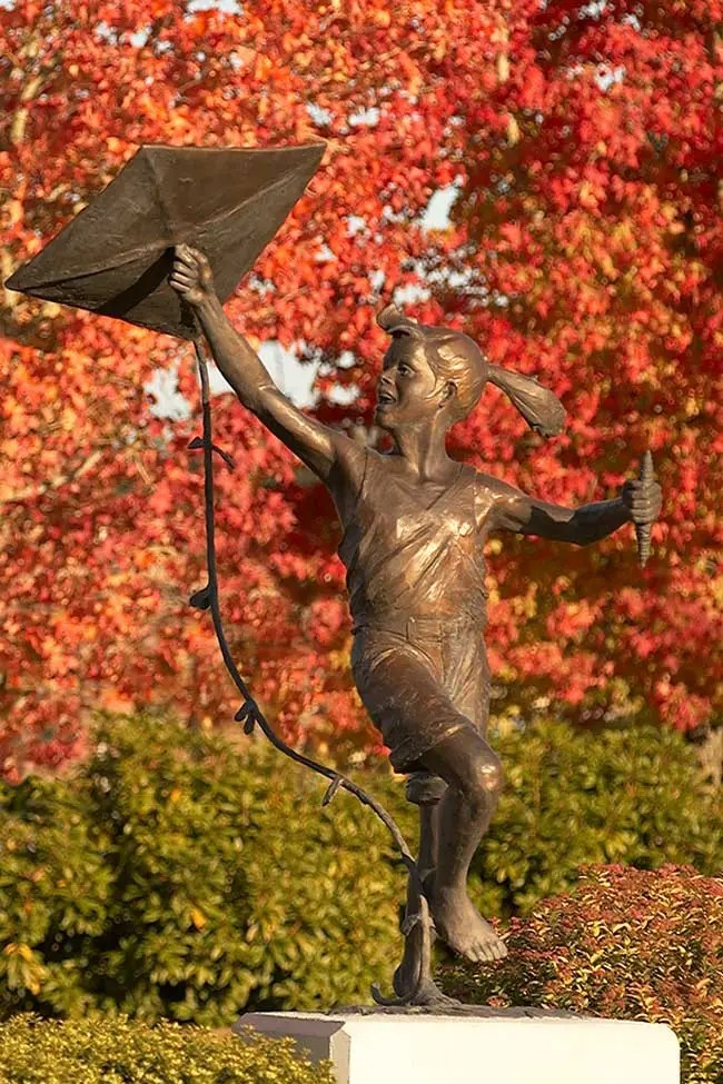 Kite Lady in the Fall