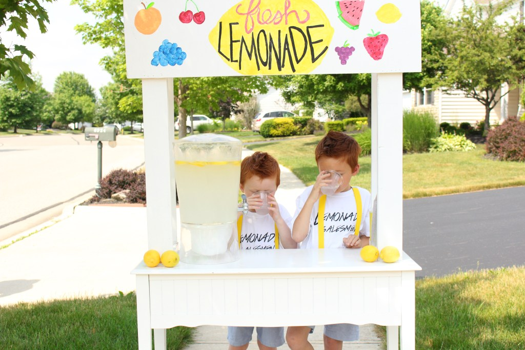 lemonade boys drinking