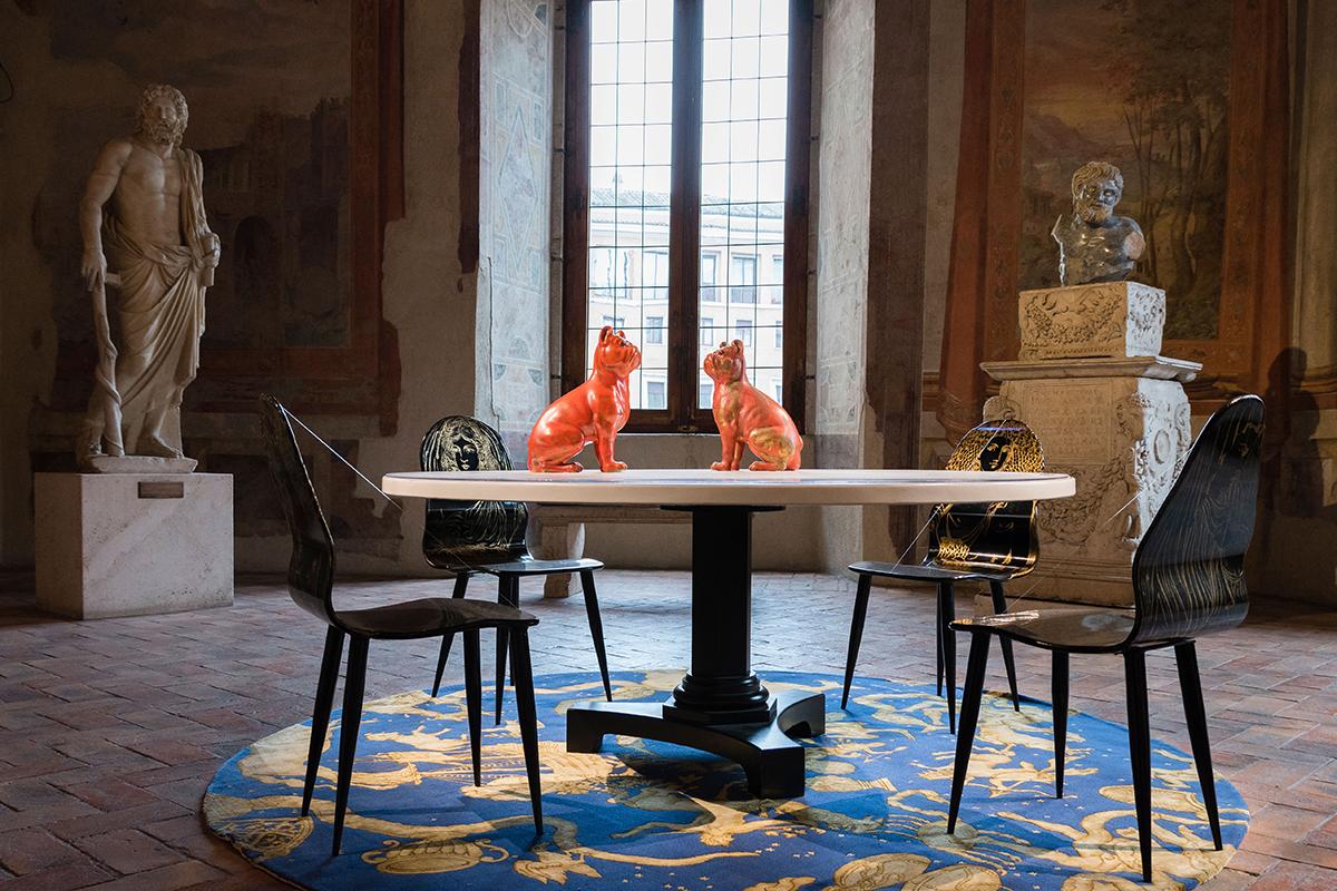 Citazioni Pratiche. Fornasetti a Palazzo Altemps | La Chaise Bleue (lachaisebleue.com) | Photo © Giulia Mandetta | LCBphoto