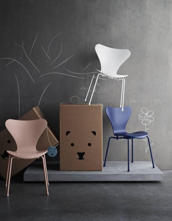 Maison&Objet e Paris Decò Off 2018 | Sedia per bambini SERIE 7 di Arne Jacobsen per Fritz Hansen | Selected by La Chaise Bleue (lachaisebleue.com)