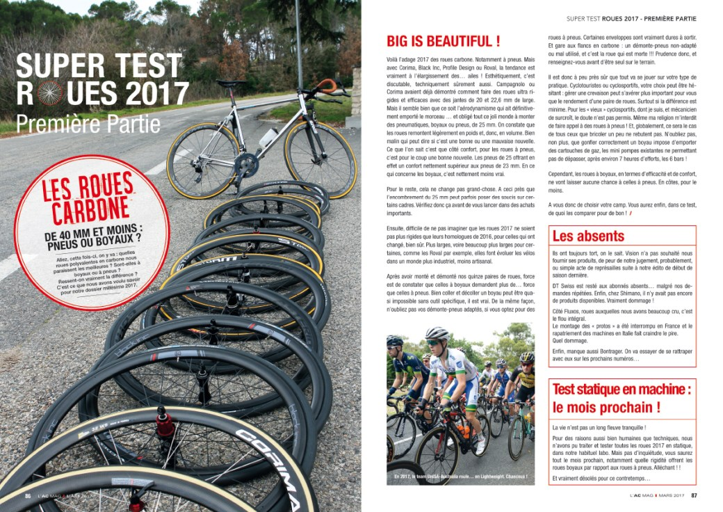 Test roues 2017