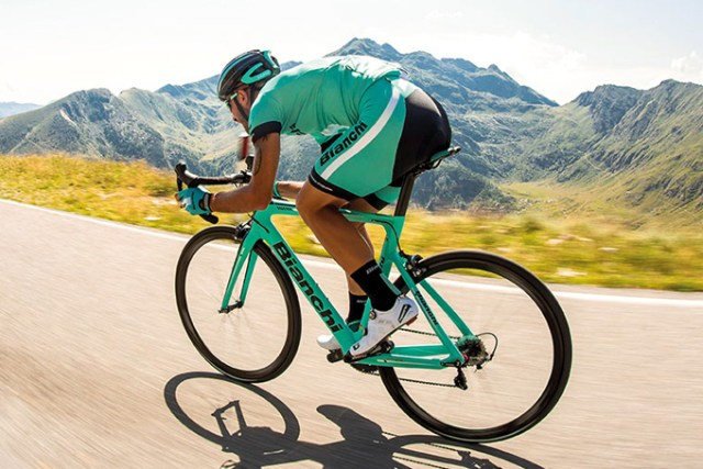 Bianchi Aria on the road