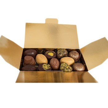 ballotin-assortiments-375g chocolat noir, au lait, blond
