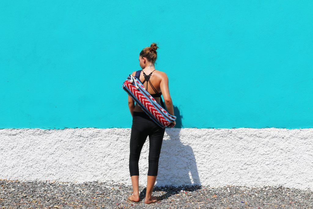 Handmade Guatemalan Yoga Mat bag