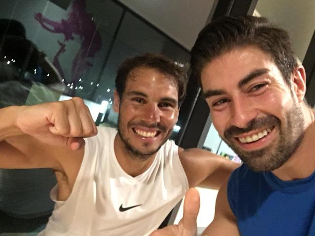 Miguel Ángel junto al tenista Rafa Nadal