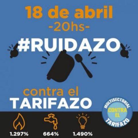 Mañana a las 20 hs. ruidazo nacional contra el aumento de tarifas 2