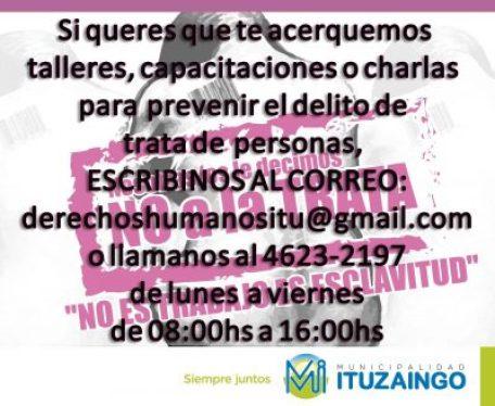 Ituzaingó: Como informar y prevenir la trata de personas 2