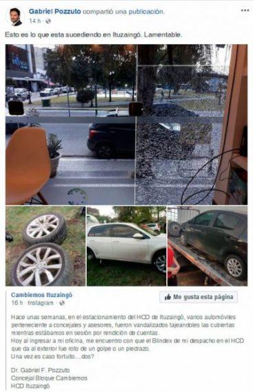 Otro hecho de violencia en el Concejo Deliberante de Ituzaingó: rompieron la oficina de Gabriel Pozzuto 2