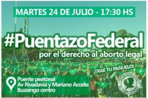 Convocan hoy al puente peatonal para apoyar la ley del aborto 2