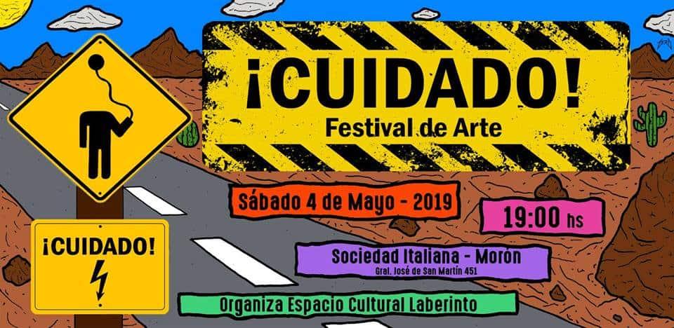 Se realiza en la Sociedad Italiana de Morón el evento '¡Cuidado! Festival de arte'