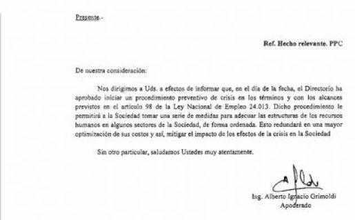 Una importantísima empresa en Castelar entró en crisis y anuncia despidos 2