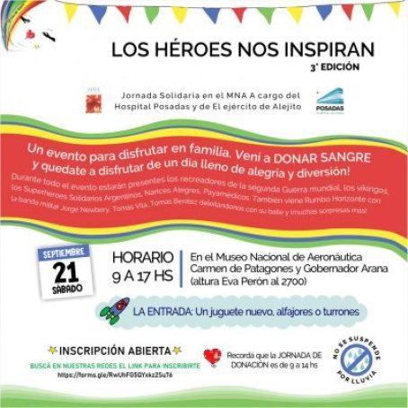 Jornada solidaria a beneficio del Banco de sangre del Posadas y 'El ejército de Alejito' 2