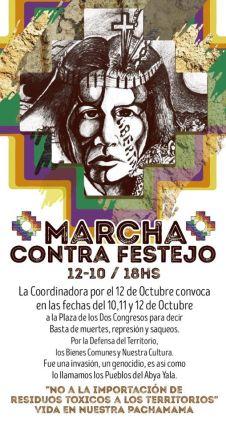 Pueblos Originarios realizan un contrafestejo por el 12 de octubre 1