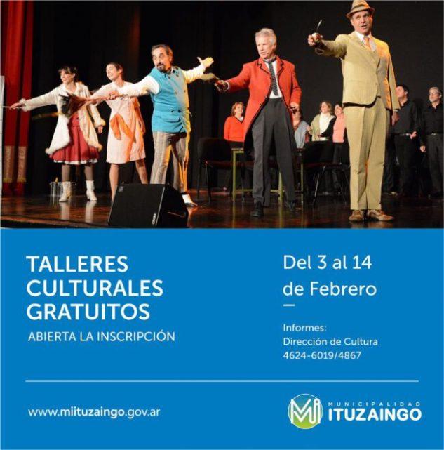 Ituzaingó: comienzan a inscribir para los talleres culturales gratuitos 1