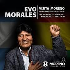 Evo Morales visitará Moreno 1