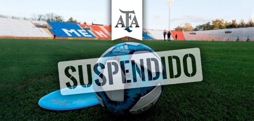 El fútbol argentino, suspendido por tiempo indeterminado